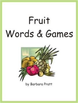 Fruit Words & Games (English) eBook