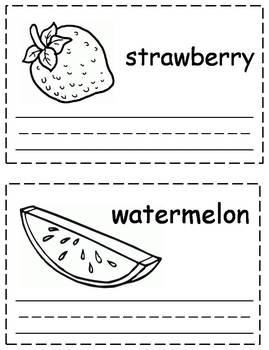 Fruit Words Trace & Write Book