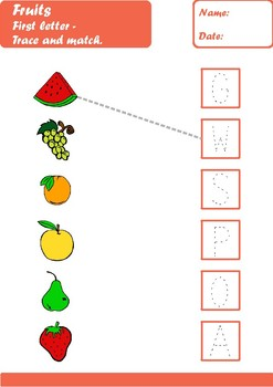 Fruit Worksheets Age 5-6