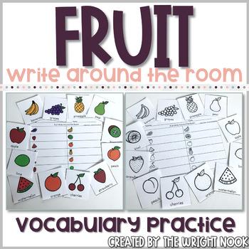 Fruit Write Around the Room