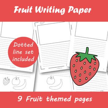 Fruit Writing Paper