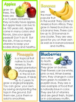 Fruit and Berries Fact Cards