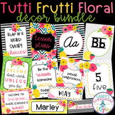 Fruit and Floral Classroom Theme Decor Bundle