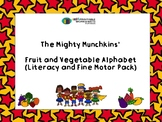 Fruit and Vegetable Alphabet: Literacy and Fine Motor Pack
