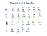 Fun and Educational Fruit and Vegetable Art Poster