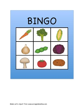Fruit and Vegetable Bingo Freebie