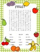 Fruit and Vegetable Bundle Wordsearch