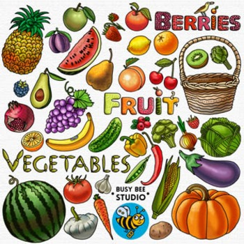 Fruit and Vegetable Clip Art