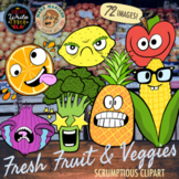 Fruit and Vegetable Clip and Emojis