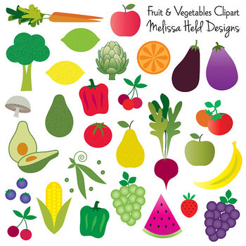 Fruit And Vegetable Clipart By Scrapster By Melissa Held Designs