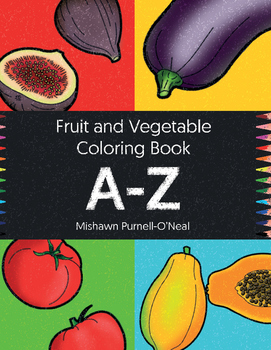 Fruit And Vegetable Coloring Book A Z