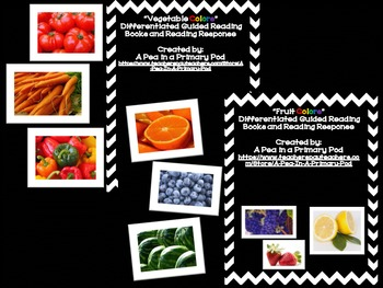 """Fruit and Vegetable Colors"" Guided Reading and ""Color Words"" Bundle"