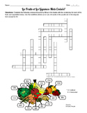 Fruit and Vegetable Crossword Puzzle