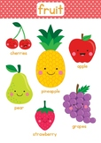 Fruit and Vegetable File Folder Game