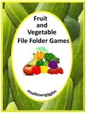 Fruits Vegetables File Folder Games Life Skills Fine Motor Special Education