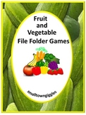Fall Fruits and Vegetables Math and Literacy File Folder Games Special Education