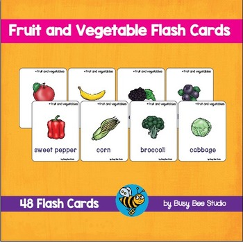 ESL VOCABULARY: Fruit and Vegetable Flash Cards