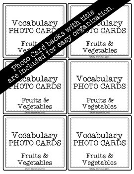 Fruits and Vegetables Vocabulary Flashcards