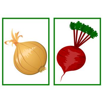 Fruit and Vegetable Flashcards Bundle!