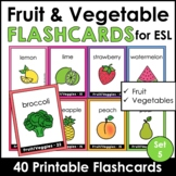 Fruit and Vegetable Flashcards - English - 36 CARDS