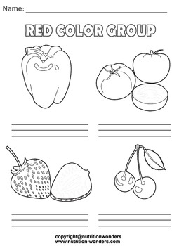 Fruit and Vegetable Handwriting Bundle Activity