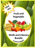 Fruit and Vegetable Math and Literacy Bundle P-K, K, Special Education
