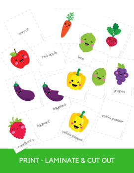Fruit and Vegetable Memory Matching Game