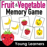 Fruit and Vegetable Vocabulary  Matching Game