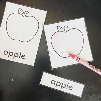 Fruit and Vegetable Montessori Style 3-Part Cards