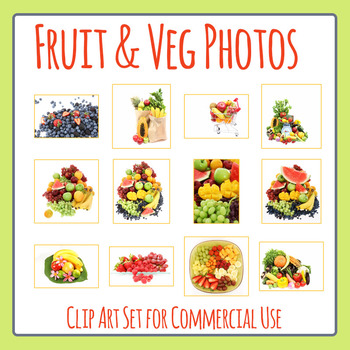 Fruit and Vegetable Photos / Photographic Clip Art for Commercial Use