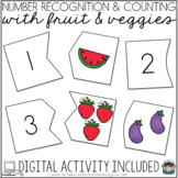 Fruit and Vegetable Puzzles Self Correcting (Counting & Nu