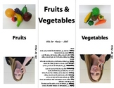 Fruit and Vegetable Sign Language (ASL) Cards