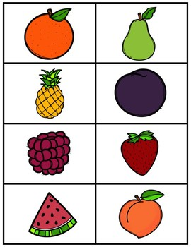Fruit and Vegetable Sorting Activities