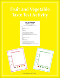 Fruit and Vegetable Taste Test Activity