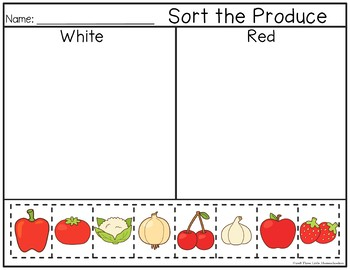 original-3697731-4 Vegetable Cut And Paste Worksheet on for kids, farm animals, fall color, shape matching,