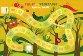 Fruit and Vegetable Trivia Poster Board Game