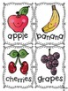 Fruit and Vegetable Vocabulary Cards