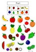 Fruit and Vegetable Vocabulary Sorting Activity