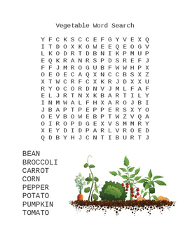 Fruit and Vegetable Word Search