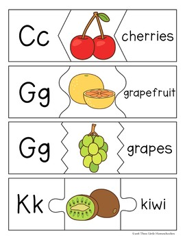 Fruit and Vegetable Word and Letter Puzzles