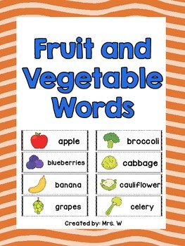 Fruit and Vegetable Words