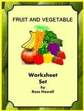 Fruits and Vegetables Activities, Sorting Activities for Special Education, ESL