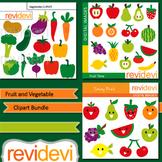 Fruit and Vegetable clip art bundle digitals (3 packs)
