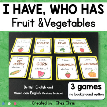 I Have Who Has Game - Fruit and Vegetables