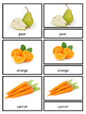 Fruit and Vegetables Montessori 3-part cards for Safari Toob