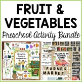 Fruit and Vegetables Preschool Dramatic Play and Activities Bundle