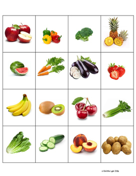 Fruit and Vegetable Sort, Vocabulary Cards and More!