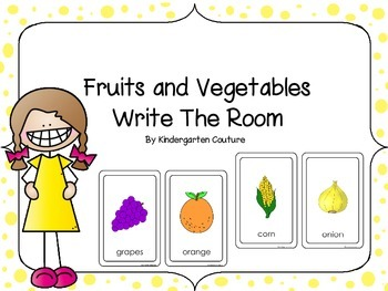 Fruit and Vegetables Write The Room