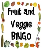 Fruit and Veggie BINGO