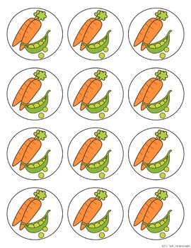 Fruit and Vegetable Bingo Jr with 30 Unique Cards for Young Learners
